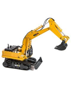 Huina 1/16 Scale Rc Excavator 2.4G 11Ch W/Die Cast Bucket - CY1510