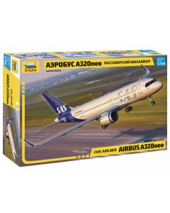 Zvezda Civil Airliner Airbus A320NEO Plastic Aircraft Kit - Z7037