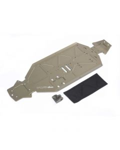 TLR Chassis, -3mm, Rear Brace: 8XE - Z-TLR341024